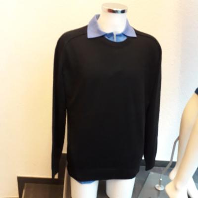 Pullover für Männer 100% Baby Alpaka in schwarz !
