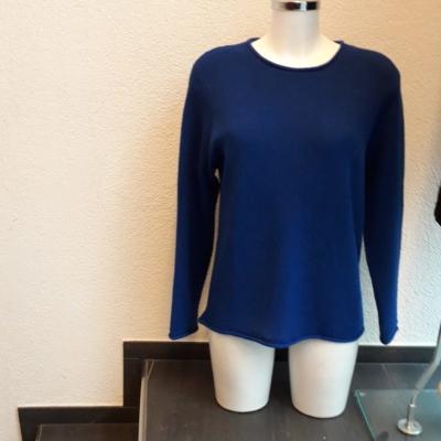 Damen Pullover König blau und marin blau ,100%BABY ALPAKA