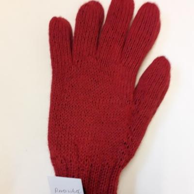 Handschuhe,reversibel ,rot/ schwarz,100%baby alpaka  verschiedene Grösse!!