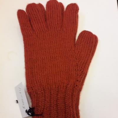 Handschuhe,reversibel,orang/marinblau,100%baby alpaka,verschiedene Grösse!!!