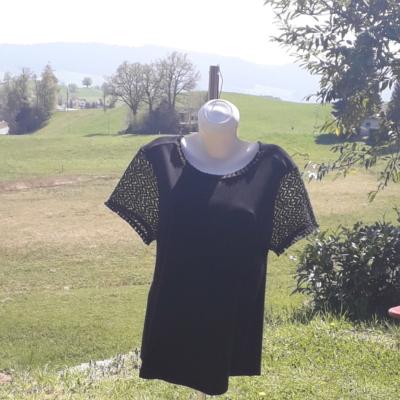 NEUE! T-shirt mit frische und durchsichtige Ärmel,aus 100%pima Baumwolle.59.90Fr.